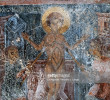 Martyrdom of Christ, fresco in Byzantine church of St George, Komitades