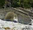 Old bridge in Samaria gorge