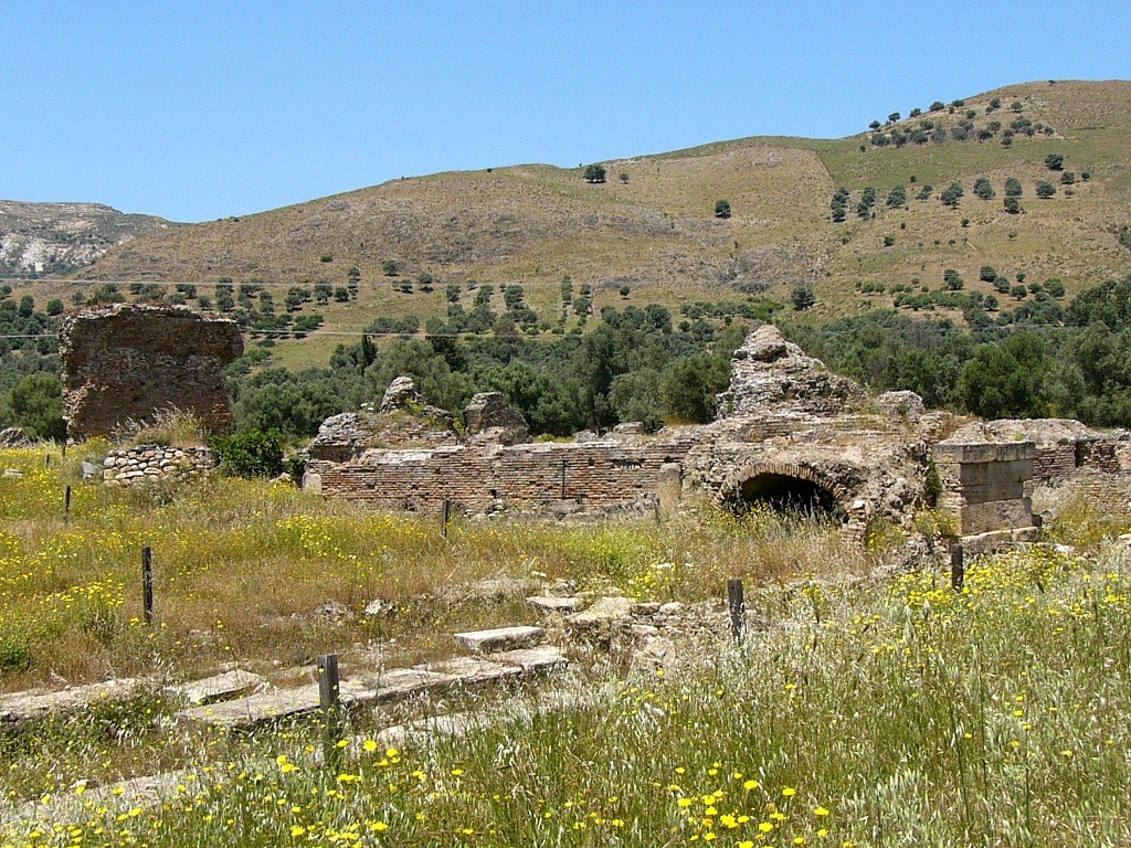 The Roman Spas (Thermae) in Gortyna, Crete, Greece