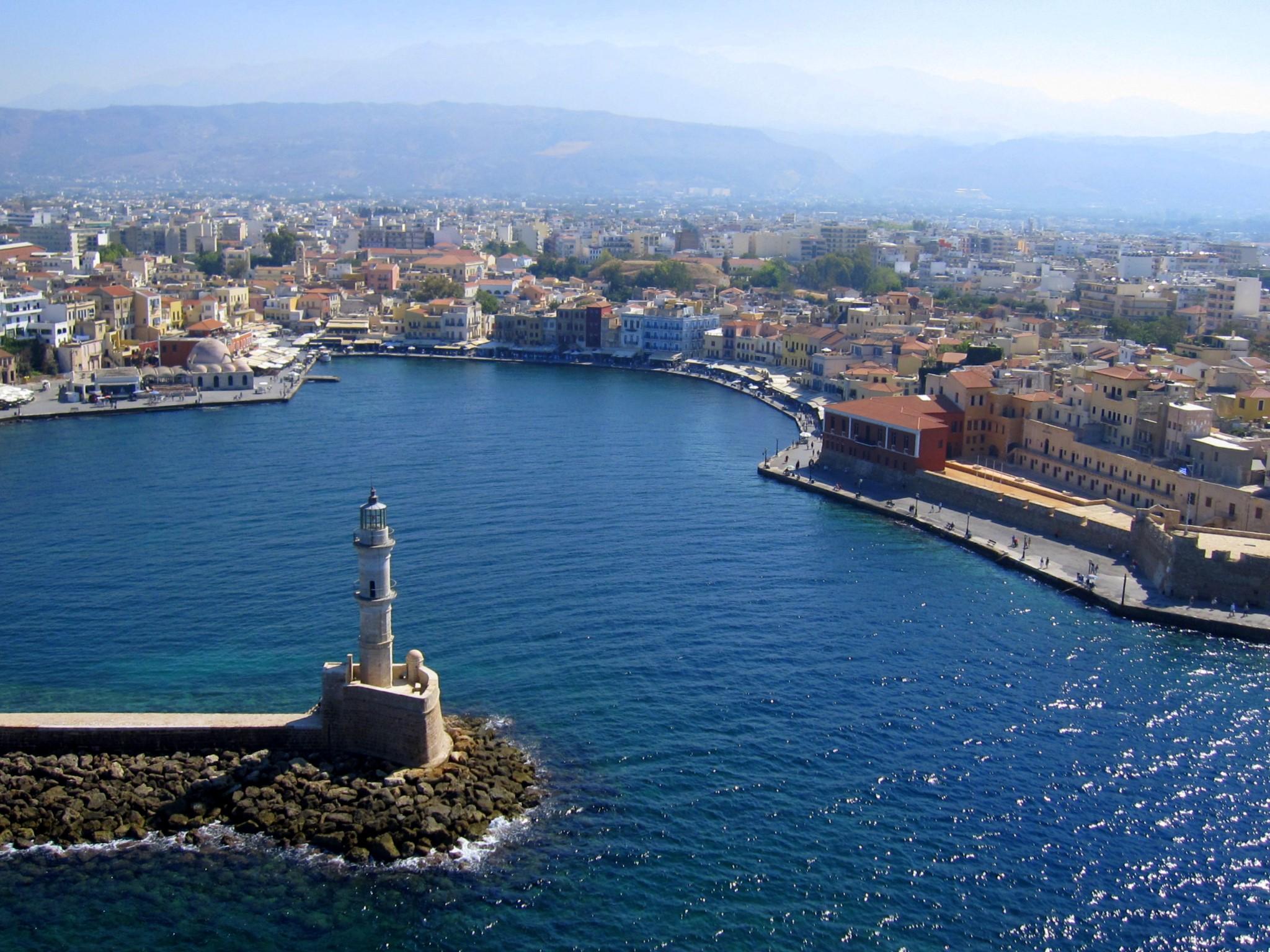 St. Nicholas Images >> Chania Lighthouse - Travel Guide for Island Crete, Greece