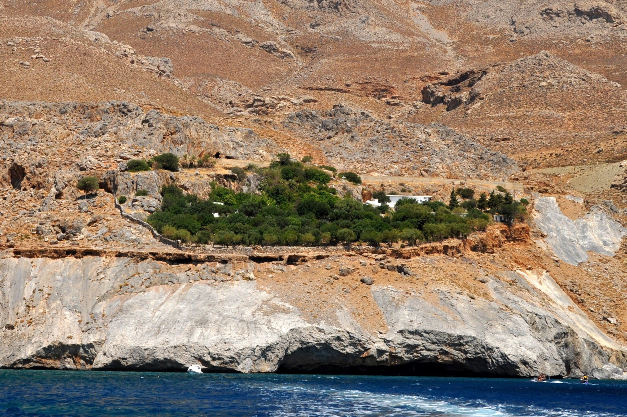 Agios Nikitas monastery from the sea