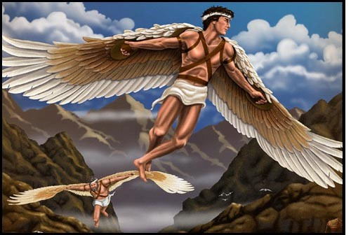 modern day lessons from daedalus and icarus On the day of the ingenious escape, daedalus warned icarus not to fly too close to the sun, as the heat could melt the wax and ruin the delicate wings it was better to maintain an even, steady course.
