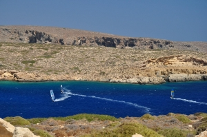 Windsurfing in Crete