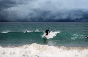 Surfing in Crete